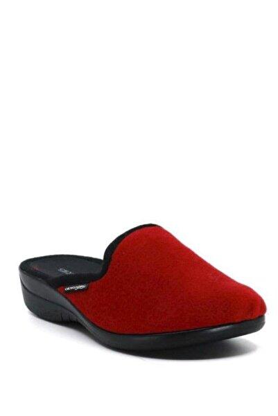 Ceyo Ramona-3 Kadın Terlik Ayakkabı 01765kırmızı