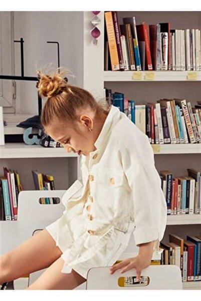 nk kids Kız Çocuk Beyaz Ceket 21ynk56614