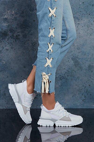DARK SEER Full Beyaz Kadın Sneaker