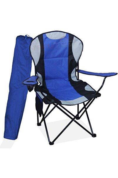Yekta Home Mega Büyük Kamp Sandalyesi Xl Kamp Sandalyesi Katlanır Sandalye Mavi