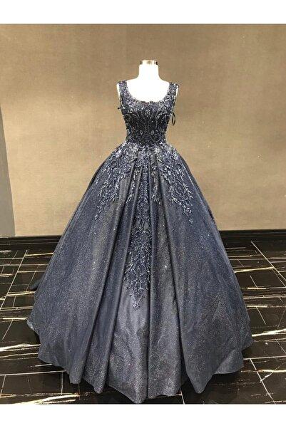 Womentic Bridal Kadın Lacivert Nişanlık Elbise