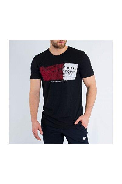 New Brand Erkek Siyah O Yaka T-shirt