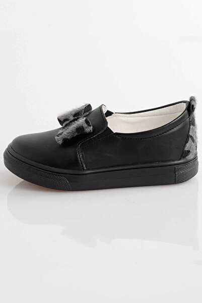 Ahenk Kids Kız Çocuk Siyah Leopar Desen Ayakkabı Ak141640