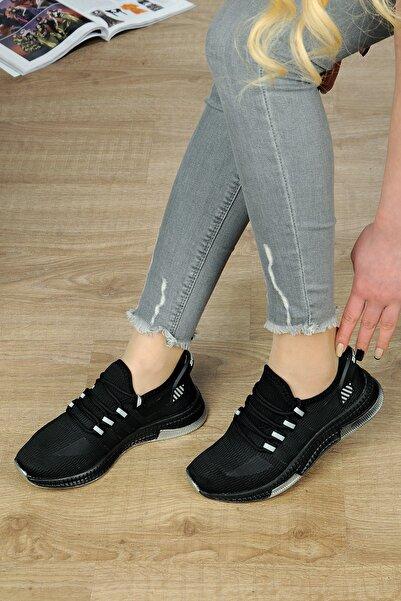 DUNLOP Kadın Siyah Spor Günlük ve Yürüyüş Ayakkabısı