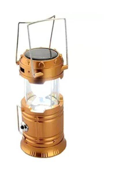 Light Şarjlı Güneş Enerjili Kızaklı Kamp Feneri Led Lamba Işıldak 4.1