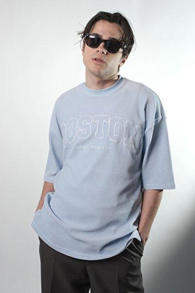 HOLEACADEMIE Unisex Mavi Oversıze Tshirt