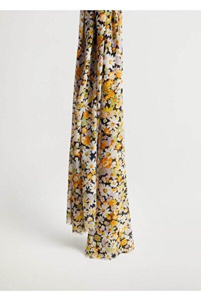 MANGO Woman Çiçekli Fular