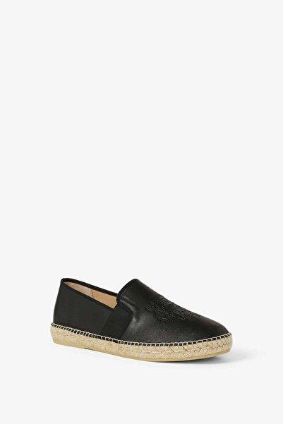 Kenzo Erkek Siyah Kaplan Logolu Deri Ayakkabı