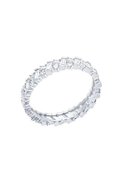 Diamond Line-Gülaylar Beyaz Altın 14 Ayar Tamtur Yüzük