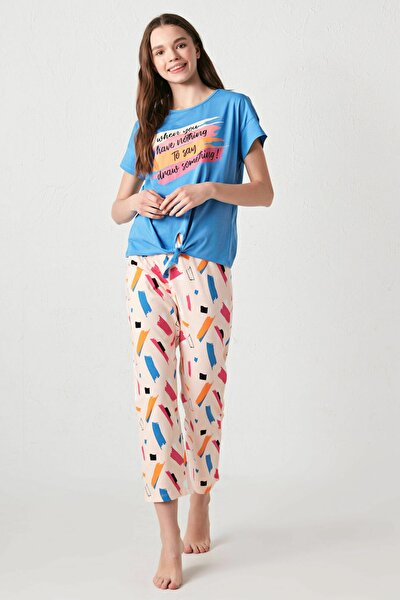 LC Waikiki Kadın Mavi Pijama Takımı