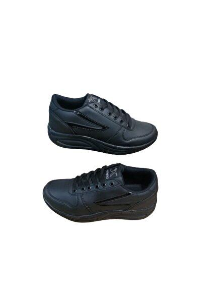 Venuma Ve03-10 Kadın Siyah Ultra Hafif Ortapedik Taban Spor Ayakkabı