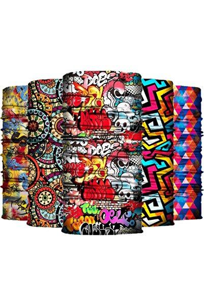 Buff 5'li Paket Bandana Boyunluk Maske Türk Markası