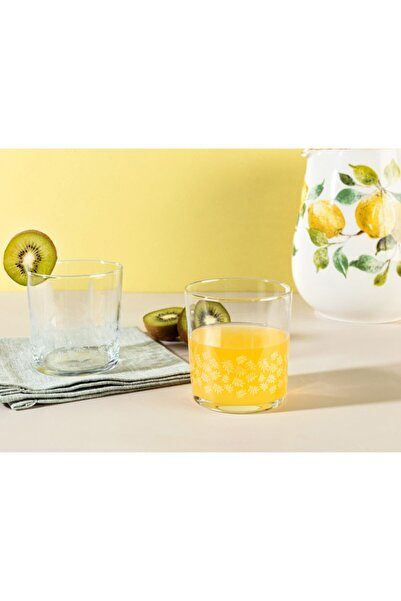 Madame Coco Pierretta White Leaves 4'lü Su Bardağı Seti 380 ml