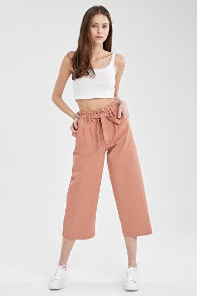 DeFacto Paperbag Fit Kuşaklı Culotte Pantolon