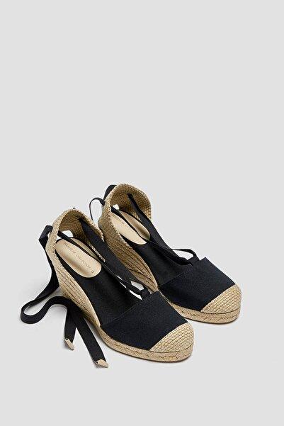 Pull & Bear Bağcıklı Jüt Dolgu Topuk Sandalet