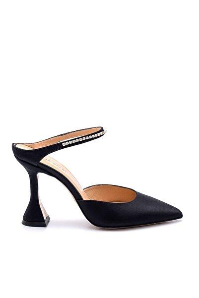 Sofia Baldi Kadın Siyah Saten Topuklu Tango Ayakkabısı