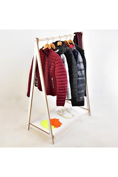 PRADO Ahşap Dekoratif Ayaklı Elbise Konfeksiyon Askısı