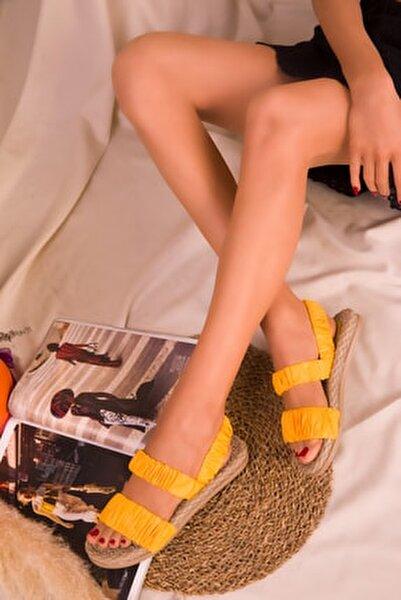 Sarı  Kadın Sandalet 16057