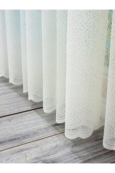 Agata Home Collection Buz Desen  1/3 Sık Pile Jakar Tül Perde,300x260 cm