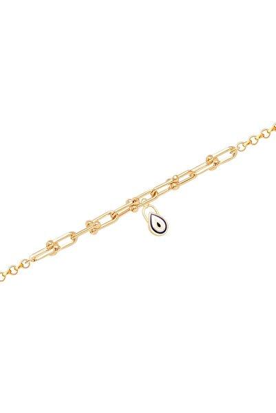 Diamond Line-Gülaylar Yeşil Altın 14 Ayar Zincir Bileklik