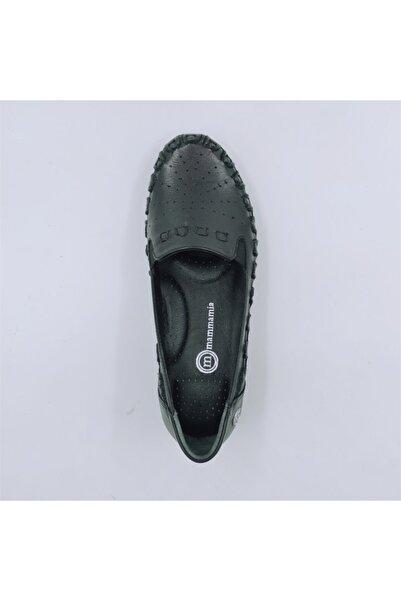 Mammamia Kadın Hakiki Deri Siyah Kısa Topuklu Ayakkabı