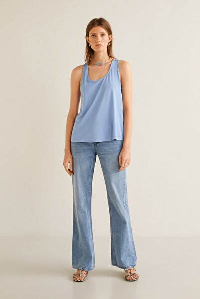 MANGO Woman Kadın Mavi Bluz 41039060