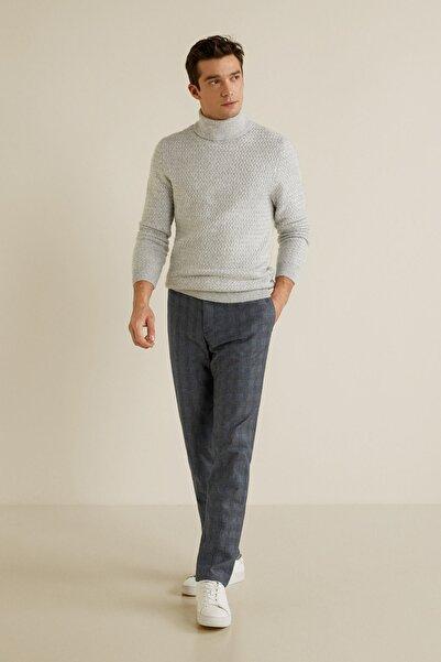 MANGO Man Erkek Açık/Pastel Gri Pantolon 41033702
