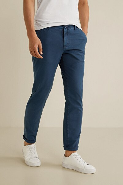 MANGO Man Erkek Lacivert Pantolon
