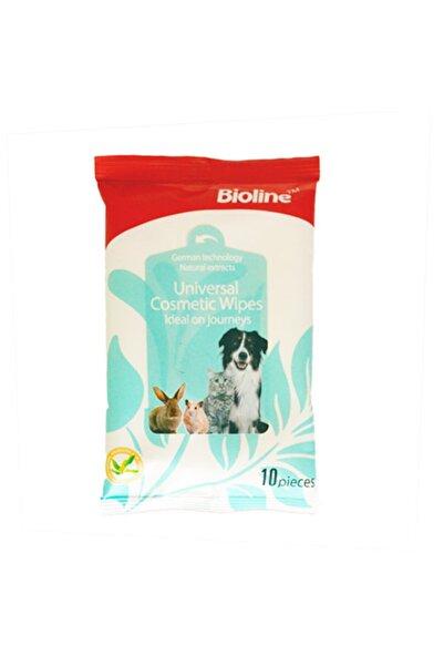 Bioline Kedi Ve Köpek Islak Temizlik Mendili 10 Adet