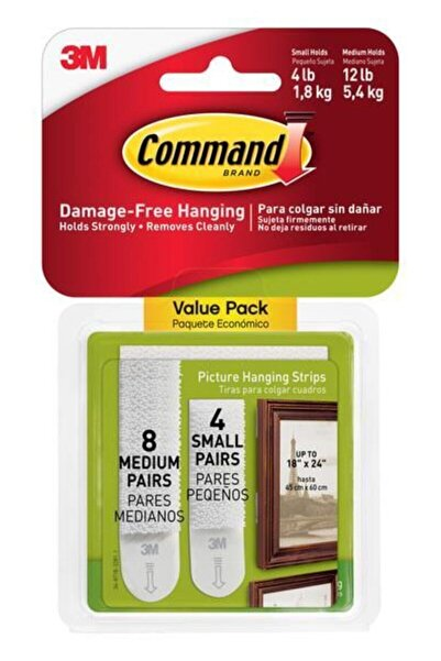 COMMAND 17203 Küçük Ve Orta Boy Cırt Bant Paketi