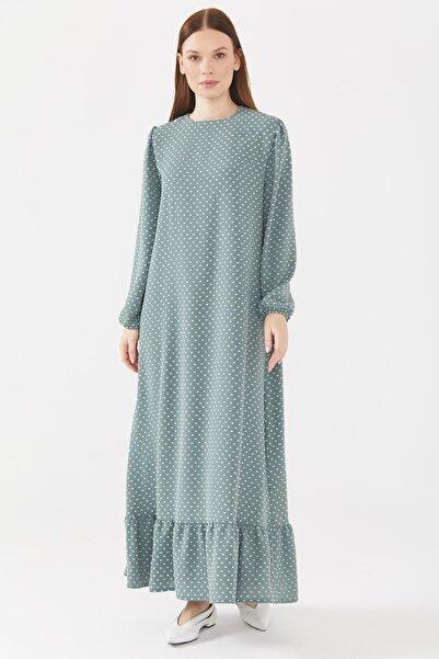 Sitare Etek Altı Fırfırlı Elbise 21ynewel2047-1