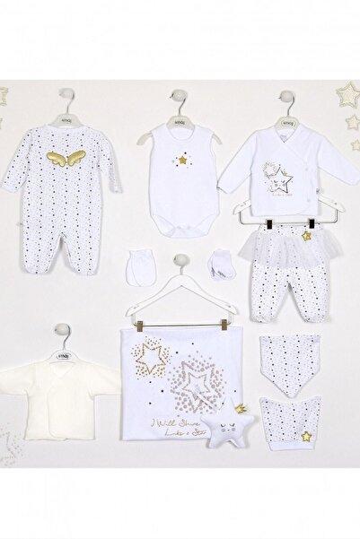 İmaj Kız Bebek Beyaz Little Stars 10'lu Hastane Çıkış Seti