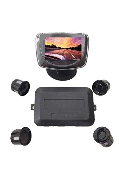 Carub Tp Park Sensörü Tv Tip Ekranlı Siyah 4 Sensör