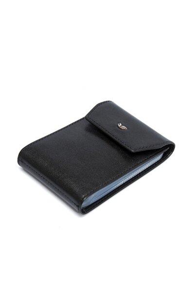 Tergan Hakiki Deri Siyah Unisex Kredi Kartlık S1KK00001193