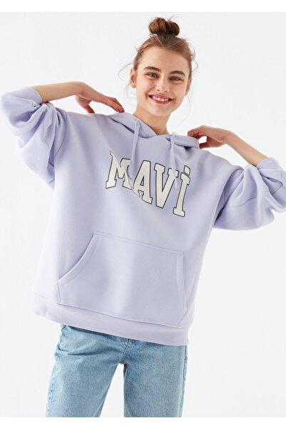 Mavi Kadın Mor Logo Baskılı Sweatshirt