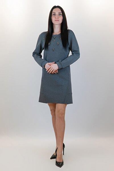 GİZİA Kadın Elbise Gri