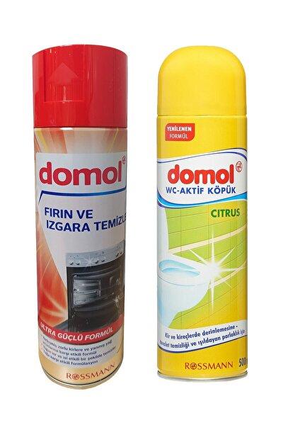DOMOL Fırın Temizleme Ve Tuvalet Temizleme Köpüğü 1+1 Set