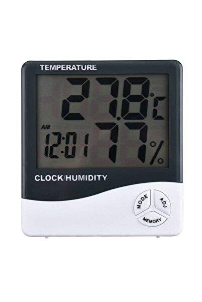 wiesmann Dijital Sıcaklık Nem Ölçer Masa Saati Ve Isı Termometre