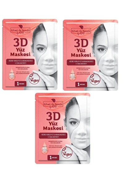 Rituel De Beaute Hücre Yenileyici & Nemlendirici & Canlandırıcı 3d Yüz Maskesi 3lü Set