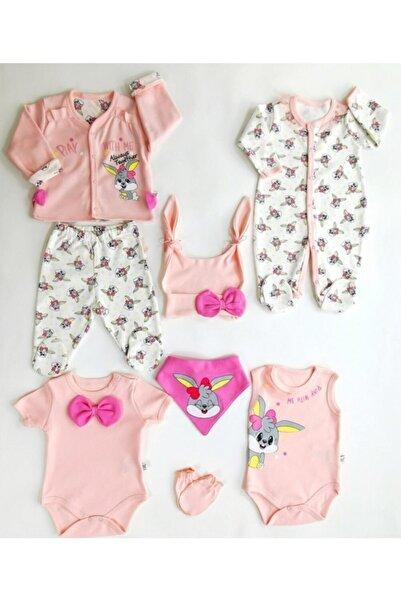 Imaj time Kız Bebek Pembe Hastane Çıkışı Seti 8 Parça 1001886