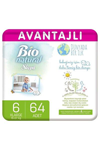 Sleepy Bio Natural Avantajlı Bebek Bezi 6 Numara Xlarge 64 Adet