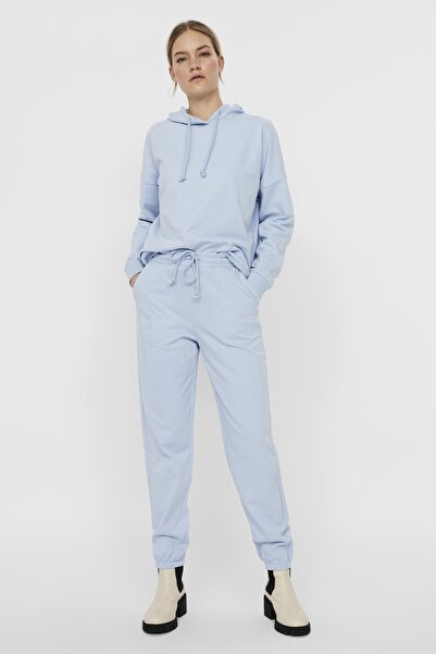 Vero Moda Kadın Cashmere Blue Paçası Lastikli Yüksek Bel Jogger Pantolon 10251096 VMOCTAVIA