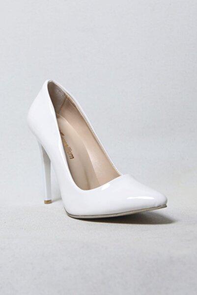 She Shoes Stiletto Beyaz Rugan
