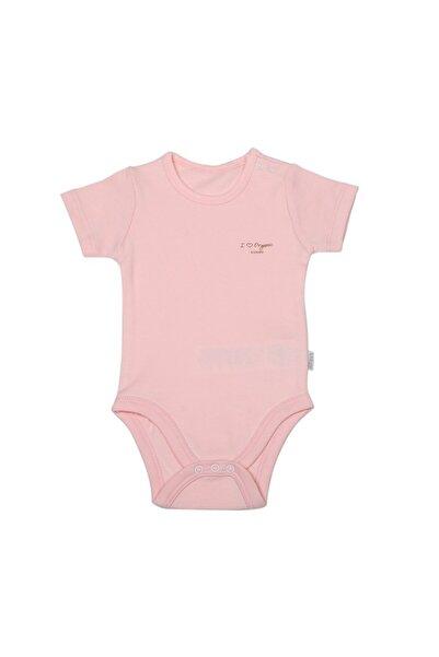 kitikate Kız  Pembe Bebek Organik Basic Kısa Kol Body