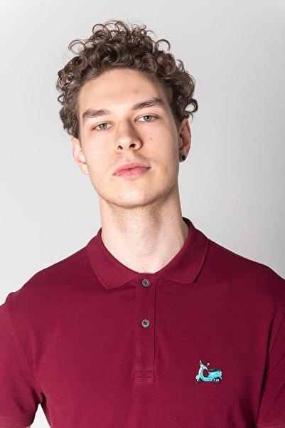 John Frank Erkek Kırmızı Identıty Polo T-shırt