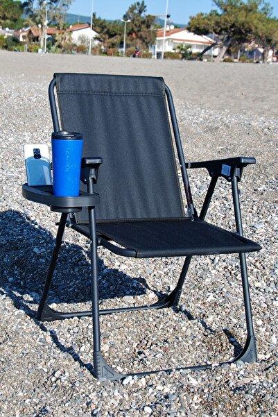 moniev Siyah Katlanır Kamp Piknik Sandalyesi Plaj Koltuğu Katlanır Şezlong Ve Bardaklık