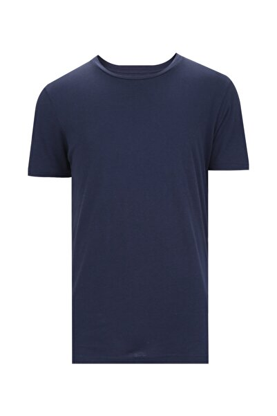 W Collection Erkek Lacivert Basic T-shirt