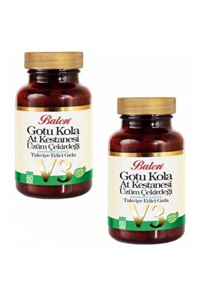 Balen Gotu Kola At Kes.üzüm Çek.ekstraktı V-3 Kap.355mg*60 2 Adet