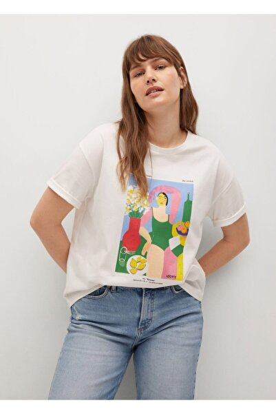Violeta by MANGO Kadın Tişört