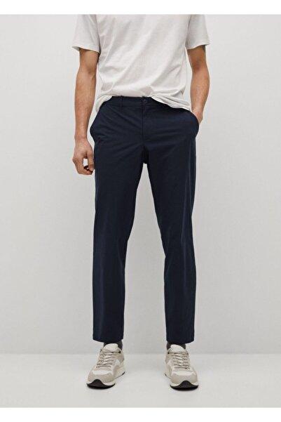 MANGO Man Erkek Lacivert Packable Koleksiyonu Dar Kesim Pantolon